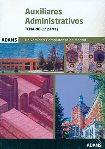 Temario Auxiliares Administrativos de la Universidad Complutense de Madrid