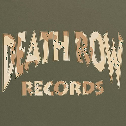 Official Death Row Records Camo Brown Logo T-Shirt, Herren Olivgrn