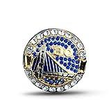 GJJ Europa Y América Anillos de Campeonato de la NBA Golden State Warriors Curry-30 Durant-35 para Fanáticos Día de San Valentín, Regalo de Cumpleaños, Plateado, US-9, Plata, US-10