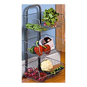 3-tier Vegetable Stand With Removable Baskets. by dy&dx