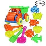 TOYMYTOY Niños Playa Juguetes de Baño de Plástico Jugando Arena Dragado Kids Beach Juego de Juguete Set 11 UNIDS