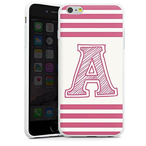 Apple iPhone X Silikon Hülle Case Schutzhülle College Buchstabe Namen Silikon Case weiß