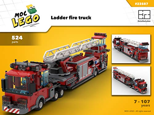 Ladder fire truck (Instruction Only): MOC LEGO (English Edition) (Ladder Fire Truck Spielzeug)