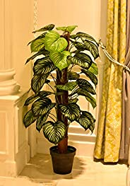 YATAI Nearly Natural Green Apple Artificial Plant 1.3 Meters High One Rod Artificial Tree –Fake Plants – Fake