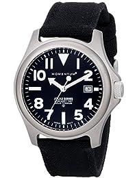 Momentum Atlas TI 1M-SP00B6B - Reloj analógico de cuarzo para hombre, correa de nailon color negro