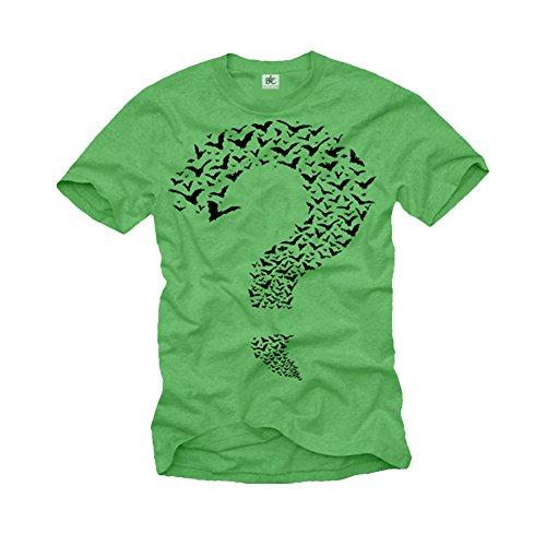 MAGLIETTA RIDDLER - T-shirt Sheldon Punto Interrogativo Batman Big Bang Theory L