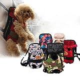Hundetragetasche, modisch, Reise-Rucksack, atmungsaktiv, für Haustiere, Welpen, Katzen, Hund, Tragbare Tasche, für Reisen, Wandern, Camping, leicht anzubringen, violett, rot, 25-40cm/9.84-15.75in