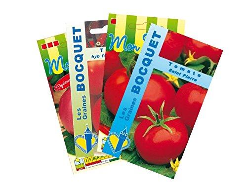 Lot de 4 sachets de Graines de Tomates Rondes - Graines Potagères à semer