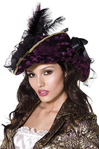 Fever Kollektion Plündernder Pirat Hut Violett mit