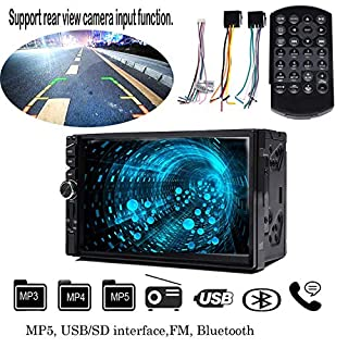 Car Stereo HD Car Radio MP5 Player With Digital Touch Screen 7 Inch Double Din Remote Control Digital MP4 MP3 MP5 Player In Dash Auto Radio With Bluetooth Support SD Card