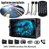 Auto Stereo HD Auto Radio MP5Lettore Digitale con Telecomando Touch Screen Digitale 17,8cm Doppio DIN MP3MP4MP5Player in Dash Auto Radio con Bluetooth Supporto SD Card