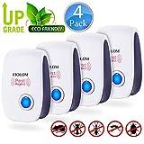 FIOLOM Electronic Pest Repellent, Ultrasonic Pest Repeller Indoor Plug In Pest 4