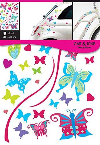 Auto-Fahrrad aufkleber Bunte Schmetterling