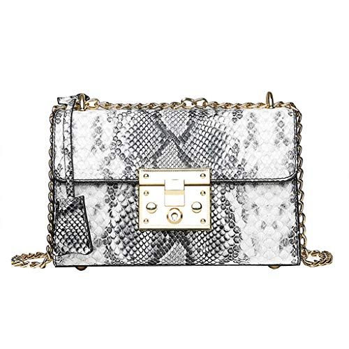 Muium Borsa a Tracolla Donna Piccola Women Retro Serpentine Crossbody Bag Messenger Bag Shoulder Bag Handle Chain Bag