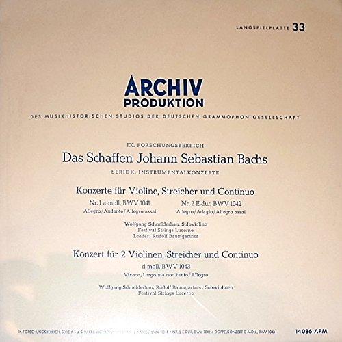 'Das Schaffen Johann Sebastian Bachs' Serie K: Instrumentalkonzerte -
