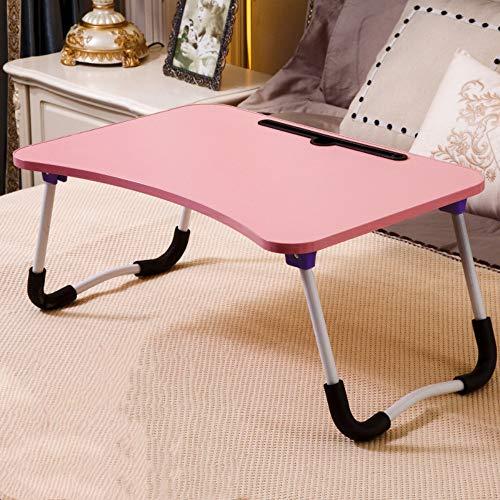 XingHe222 Bett Laptop Tisch Faule Faltbare Aufbewahrungstisch Einfache College Schlafsaal Studie Tisch Umweltschutz Lack Frei Rot 60x40x29 cm -