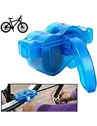 Limpiador de Cadena de Bicicleta / Limpiador de Cadena para Todas las Clases de Cadenas de Bici, Piñones Libres y Platos, incluidas las de Velocidad Única y de Velocidad Múltiple