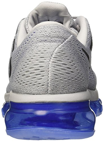 Nike Air Max 2016, chaussure de course homme Grey / noir / Bleu (Wolf Grey/Black-Racer Blue-Sl)