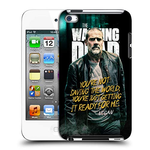 fizielle AMC The Walking Dead Negan Staffel 9 Zitate Harte Rueckseiten Huelle kompatibel mit Apple iPod Touch 4G 4th Gen ()