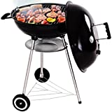 COSTWAY Kugelgrill BBQ Grill Holzkohlegrill Grillwagen Standgrill Kohlegrill Ø 57cm mit Thermometer