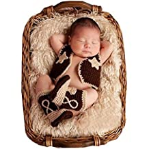 Bebé recién nacido fotografía apoyos niño Niña Crochet disfraz ... 1d978ce2e43