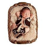 Bebé recién nacido fotografía apoyos niño Niña Crochet disfraz trajes traje de vaquero
