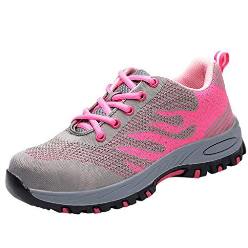 CUTUDE Sneaker Damen, Gym Laufschuhe Jogging Sneaker Frauen Einzelne Schuhe Hausschuhe für Yoga (Rosa, 40 EU)