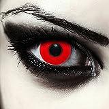 Lentillas de color rojo totalmente para Halloween zombie lentillas sin dioprtías / corregir +...