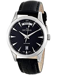 Grovana Men'Armbanduhr PH4900-C-PH01T Analog Leder schwarz 1201.1537