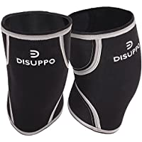DISUPPO 7mm Knee Sleeves (1 Pair), Compression Knee Braces for Weightlifting, Cross Training, Crossfit, Powerlifting, Bodybuilding, Squats, Gym, Thick Neoprene Brace Fit Men and Women