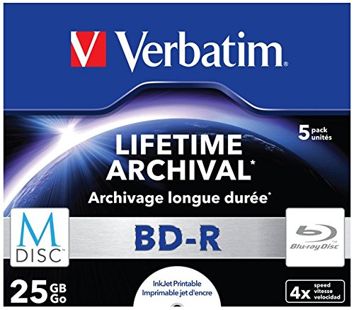 Verbatim 43823 25 GB 4x M-Disc BD-R - 5er Pack Jewel Case