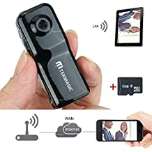 TEKMAGIC Cámara de WIFI Inalámbrica 8GB Portátil Mini DV Grabador de Vídeo para el iPhone iPad Android APP Vista Remota