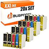 20 Bubprint Druckerpatronen kompatibel für Epson T1301 T1302 T1303 T1304 für Stylus Office BX320FW BX525WD BX535WD BX625FWD BX635FWD BX935FWD SX525WD SX620FW WorkForce WF-3520 DWF WF-3540 DTWF WF7525