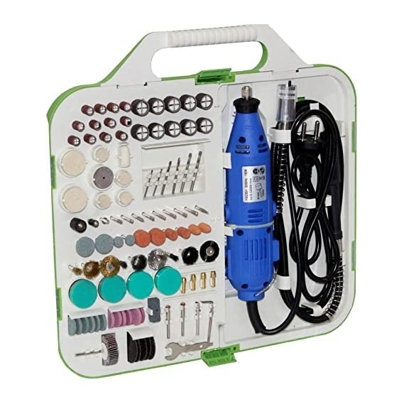 Digital Craft Lruxor Style Mini Dremel Rotary Tool Kit with 163 Pieces Accessories Grinds for Cutting Drilling of Die Grinder (3 mm)