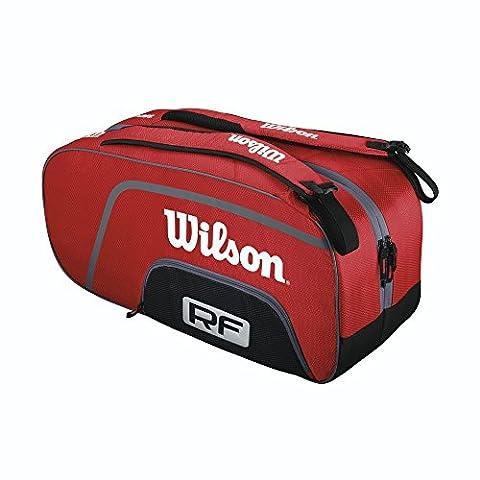Wilson Schlägertasche Federer Team 6er Racketbag, Rot, 70 x 24 x 35 cm, 65 Liter, WRZ833506