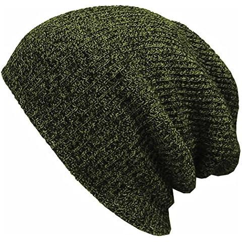 Pixnor Sombreros de invierno slouchy Beanie gorros esquí caliente suave sombrero Verde