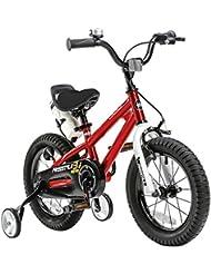 RoyalBaby BMX Freestyle Vélo Enfant pour garçons et filles, 12-14-16-18 pouces, avec roues d'entraînement et support de parc