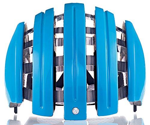 faltbarer fahrradhelm Carrera–Faltbarer Fahrradhelm–Unisex, Erwachsene M/L Bleu (Azure)