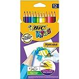BIC Kids Aquacouleur Crayons de Couleur - Etui Carton de 12