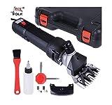 Folk Cisaille 500W électrique pour Sheep Shearing arnaqué éplucheur - Garantie, entretien et pièces (option 2 + 1 kit de lames de rechange)
