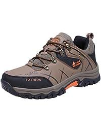 Deylaying Herren Wanderschuhe High Top Trekking Schuhe Rutschfeste Outdoor Warm Waterproof Walking Klettern Sneakers