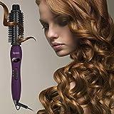 Spaire Stylingbürsten Elektrische Ionisch Nylon Borsten 4 in 1 Lockenbürste Anti - Verbrühen Keramische Haarbürsten Temperaturregelung und Schnelle Heizung (Lila) -