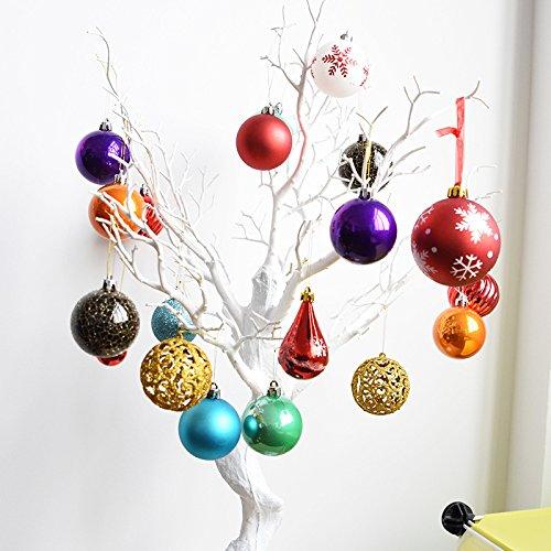 Global Brands Online Decoraciã³n del áRbol de Navidad Bola Decorativa del Navidad Bola de Plã¡Stico LãNeas mudas Brillantes Regalo Colgando