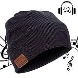 Lukasa Cappello a cuffia Bluetooth Music Hat Inverno Berretto Lavorato a Maglia Berretto per Corsa Sport all'Aria Aperta Sci Campeggio Escursionismo Giorno del Ringraziamento Regali di Natale Nero