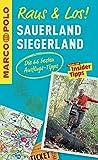 MARCO POLO Raus & Los! Sauerland, Siegerland: Guide und große Erlebnis-Karte in praktischer Schutzhülle
