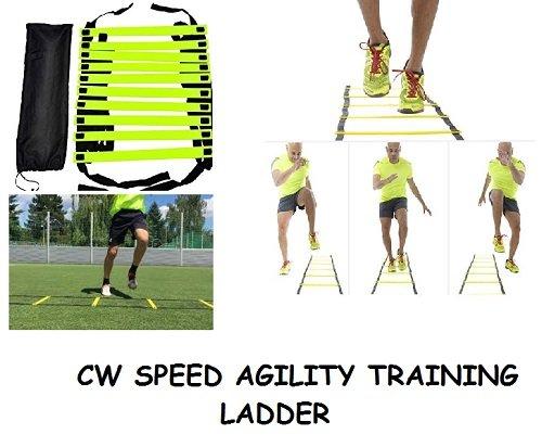 3M CW-8Meter Geschwindigkeit und Fitness-Training Leiter Nylon Riemen mit verstellbaren Stufen aus Robuste footwork, Fitness, Workout, Sport, mit Erhöhung mit Leiter