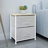BOJU Unit Storage Drawers Tower Non-Woven Fabric Chest of Drawers Tallboy Bedroom Living Room Wardrobe Storage Cabinet Organizer Drawer for Hallway (Grey)
