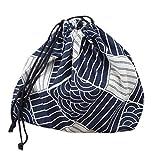 Sac à Déjeuner Portable Léger Tissu de Toile de Jute Japonais Sac de Livraison de Nourriture Eco-Friendly