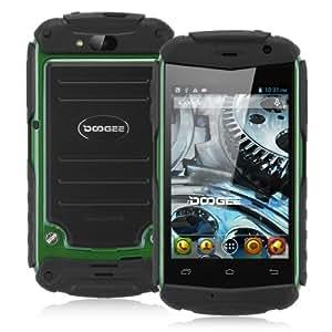 """Smartphone DOOGEE TITANS DG150 3.5"""" écran tactile Google Android 4.2 Débloqué Dual Core Dual SIM 3G Wi-Fi Bluetooth - Noir&Vert - resolution 480 x 320 - caméra arrière (2,0 mégapixels), caméra frontale (1,3 Mégapixel) - pour orange, SFR, Bouygues, Free etc"""