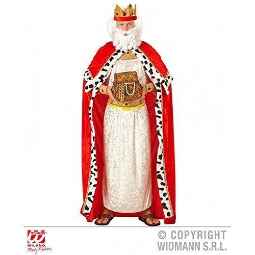 Lively Moments Kostümzubehör Königsumhang mit Königskrone / Königinnenumhang / Royal King Cape für Erwachsene Gr. M / L = 50 / 52